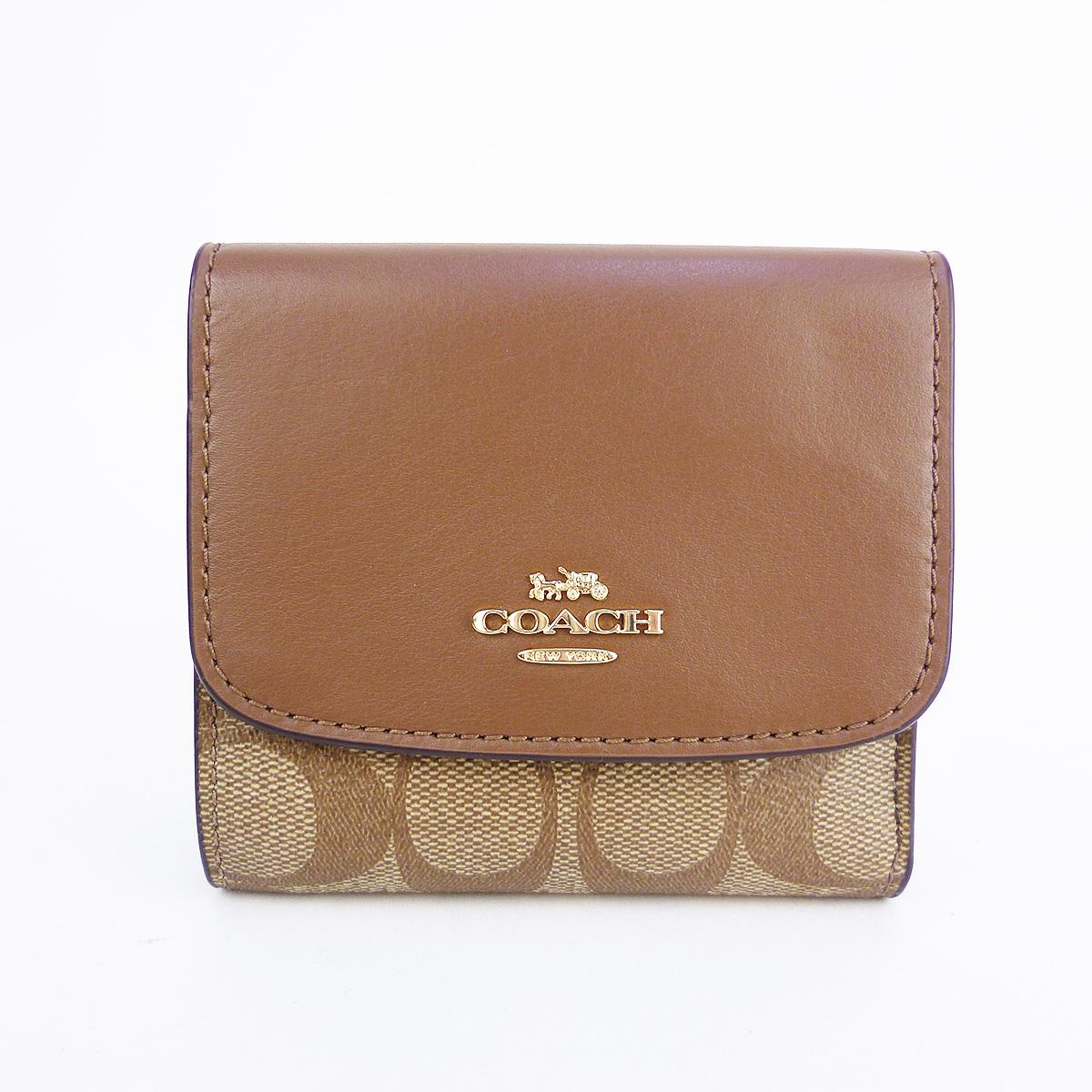 COACH F87589 シグネチャー コンパクト 2つ折り財布  IME74 【新品】