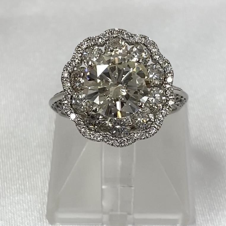 PT ダイヤモンドリング D3ctUP D2ctUP VLY-SI2-G【中古/超美品】